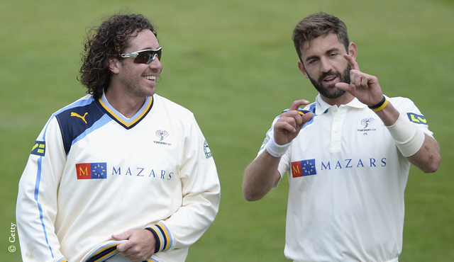 Ryan Sidebottom (left) and Liam Plunkett impressed
