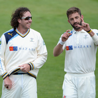 Ryan Sidebottom and Liam Plunkett