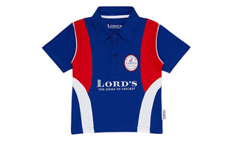 Small 2016 Lords Kids Cricket Polo Shirt Navy
