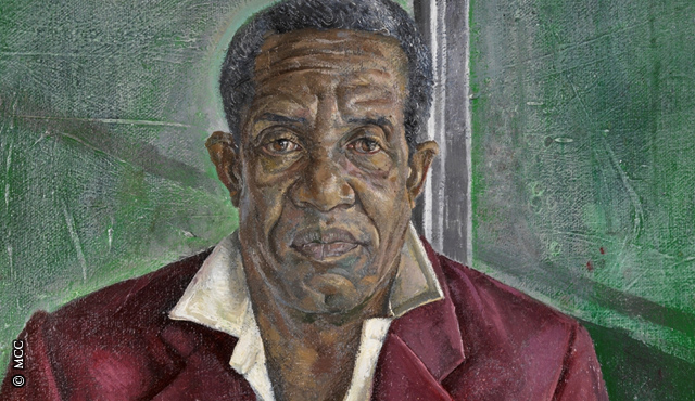 Sir Garfield Sobers portrait which is currently in the MCC Museum