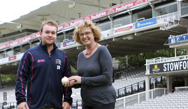 Paul Stirling and Frances Mossman with the ball