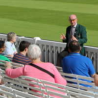 vistors enjoy a tour at lord's