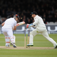 Jonathan Trott is clean bowled