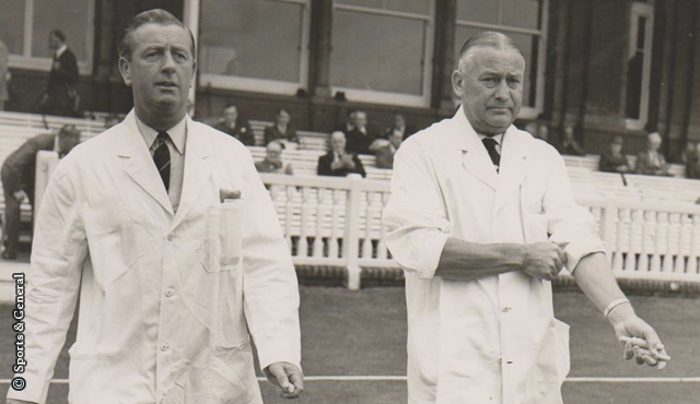 The days before neutral umpires - Syd Buller and Dusty Rhodes at Lord's in 1965