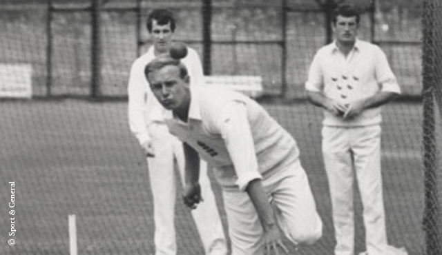 Underwood in the nets at Lord's in 1968