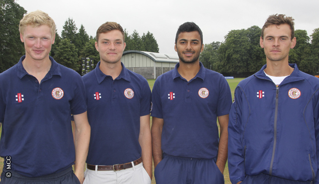 L-r: Andy Laws, Stuart Whittingham, Zafir Patel and Will Vanderspar