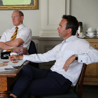 Michael Vaughan and Geoffrey Boycott
