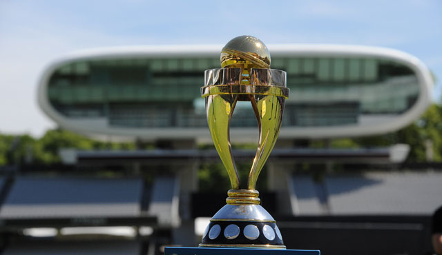 The Women's World Cup Final trophy at Lord's