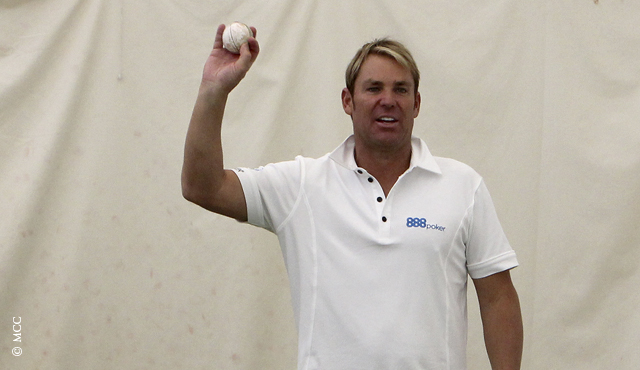 Shane Warne during a coaching session in the MCC Academy
