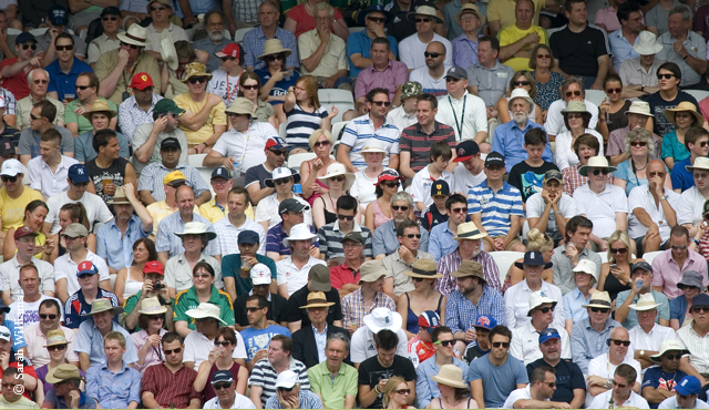 Crowd at a Test match at Lord's
