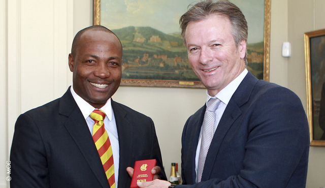 Brian Lara accepts MCC Honorary Life Membership