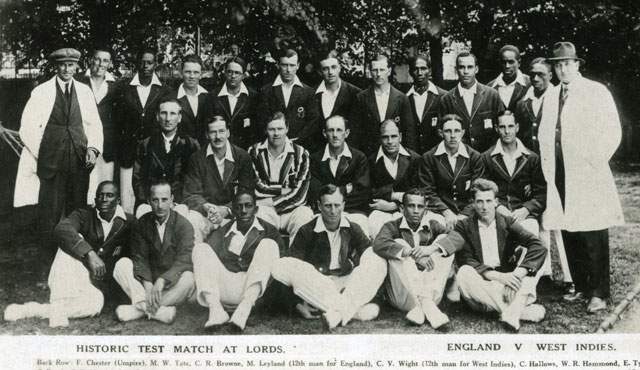 The 1928 West Indies & England team at Lord's