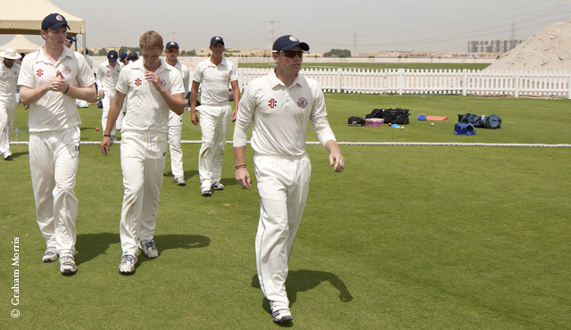 MCC Young Cricketers take to the field during last year's tour