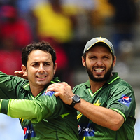 Saeed Ajmal and Shahid Afridi