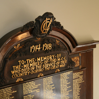 MCC Roll of Honour