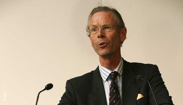 Christoper Martin-Jenkins delivering the 2007 MCC Spirit of Cricket Cowdrey Lecture