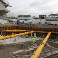 concrete fill of lord's warner stand