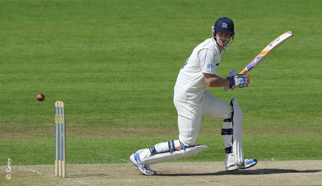 Middlesex's Joe Denly on his way to a half-century