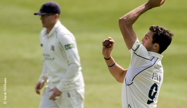 Middlesex's Steven Finn in action at Lord's