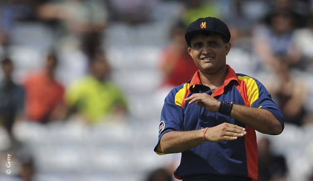 Sourav Ganguly captained MCC against Pakistanis in a T20 at Lord's in 2010