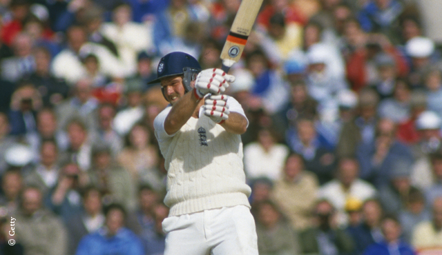 Current MCC President Mike Gatting in action for England
