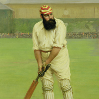 WG Grace batting