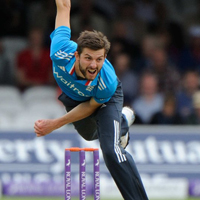 England bowler Harry Gurney was the pick of the attack as he took 4/55.