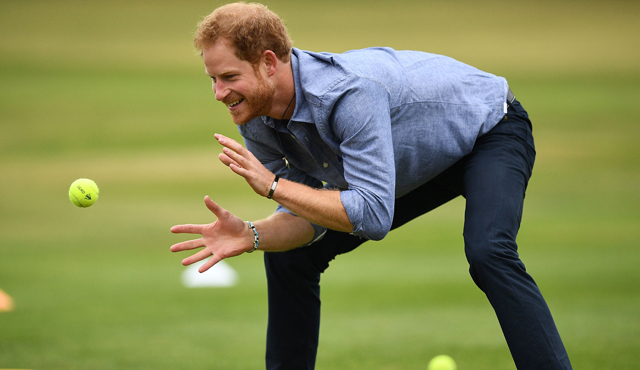 HRH Prince Harry took part in a skills session
