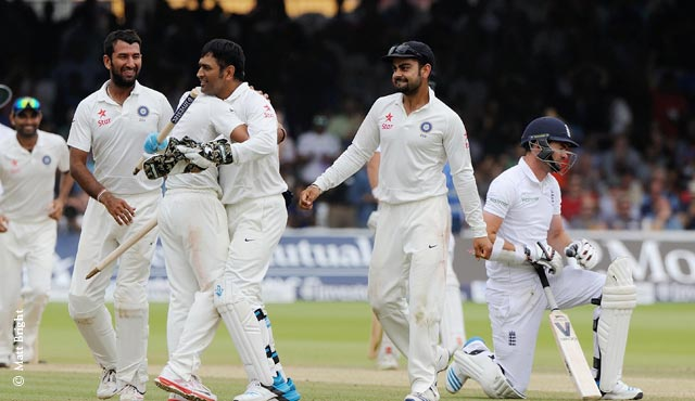 India recorded their second victory in Tests at Lord's