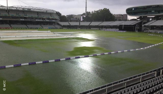 Lord's briefly resembled a lake