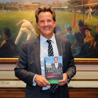 Mark Nicholas after accepting his award