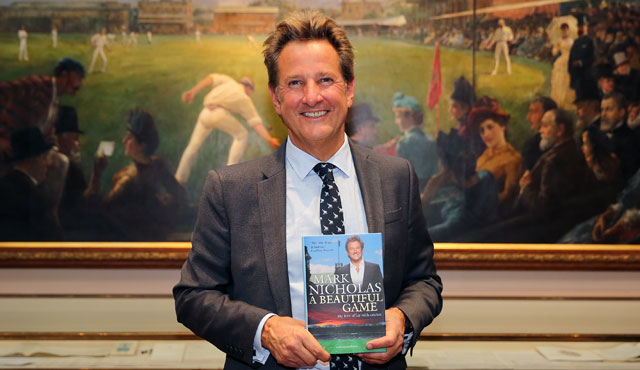 Mark Nicholas after accepting the award