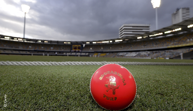 A pink ball was used for the Sheffield Shield match between Queensland and Western Australia