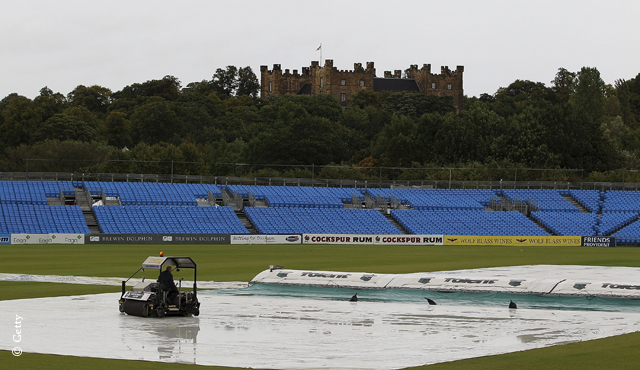 Rain prevented any play on the final day at Durham