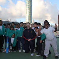 Ricky Reynolds at All Souls Primary School, Great Portland Street