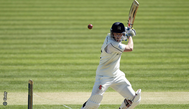 Sam Robson on his way to 129 at Lord's