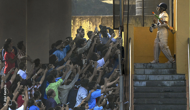 The winning photograph of Sachin Tendulkar by Atul Kamble