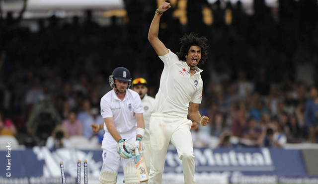 Ishant Sharma's two wickets put India in control