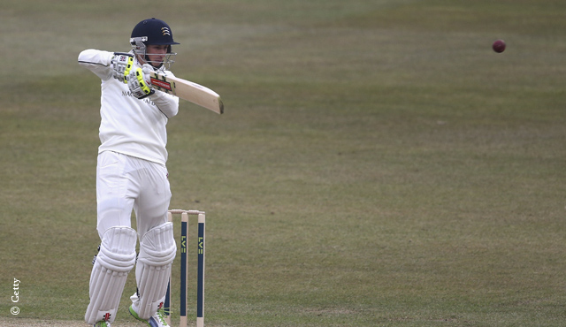 Simpson knock puts Middlesex on top