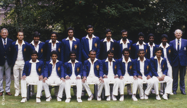 The Sri Lanka side pose for a team photo at Lord's