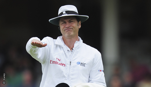 Simon Taufel during the England v India series in 2011